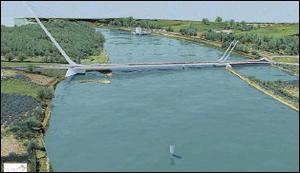 An image of the proposed Narrow Water Bridge at Omeath.