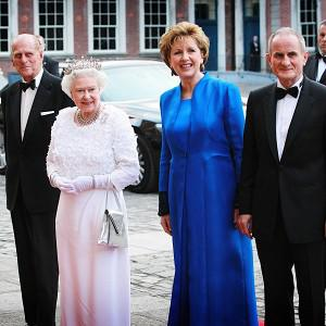 The British Queen and the Duke of Edinburgh pictured with President Mary McAleese and her husband Dr Martin McAleese
