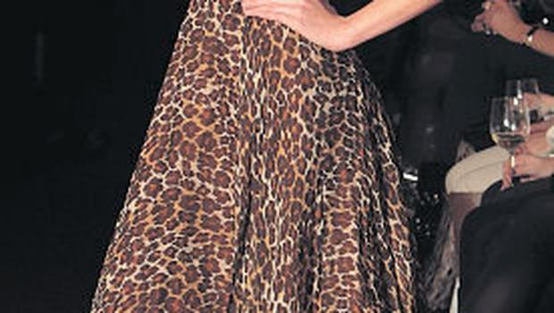 Leopard skin dress (previously owned by Amanda Byram), size 8, was €950 now €200, Dina Bar-El