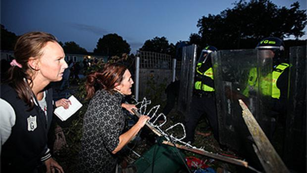 Protestors clash with police at Dale Farm. Photo: Getty Images