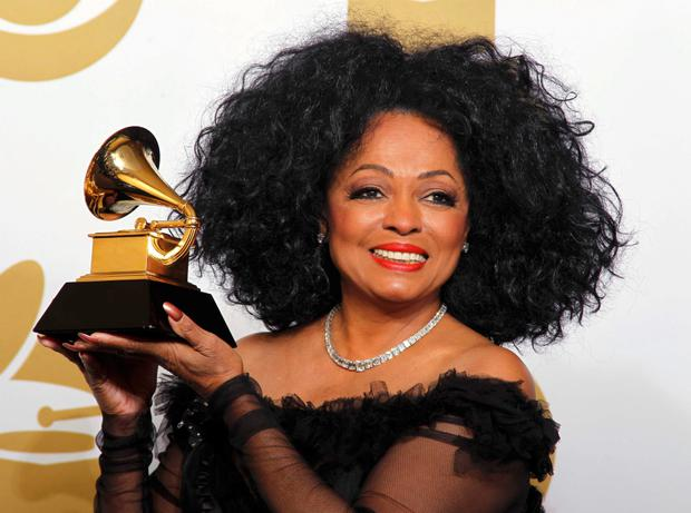 Singer Diana Ross poses backstage at the 54th annual Grammy Awards in Los Angeles, California February 12, 2012. Ross received a lifetime achievement Grammy a day earlier.
