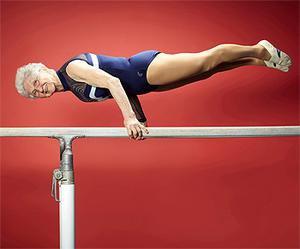 86-year-old Johanna Quaas, a retired PE teacher from Leipzig, Germany, who is named the oldest gymnast