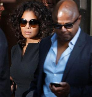 Janet and Tito Jackson pictured at the court