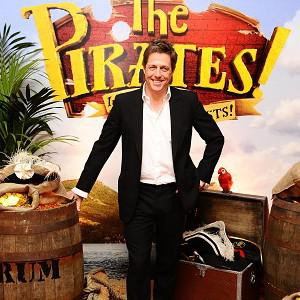 Hugh Grant plays the unlikely role of a portly pirate with an impressive beard