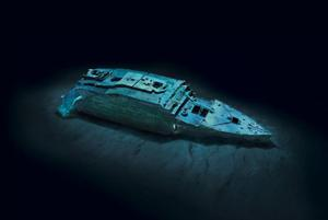 Ethereal views of Titanic's bow (modeled) offer a comprehensiveness of detail never seen before.