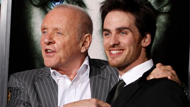 Actors Anthony Hopkins and Colin O'Donoghue at the premiere of their new film 'The Rite' at Grauman's Chinese Theatre in Hollywood