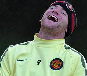 Wayne Rooney pictured training at Manchester United's Carrington training facility yesterday. Photo: PA