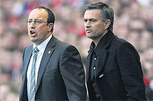 Rafael Benitez and Jose Mourinho