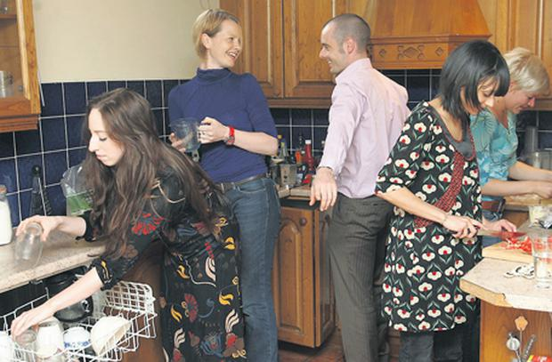 Move over, darling: Leah McLennan and the four people with whom she shares a house in Dublin 1.