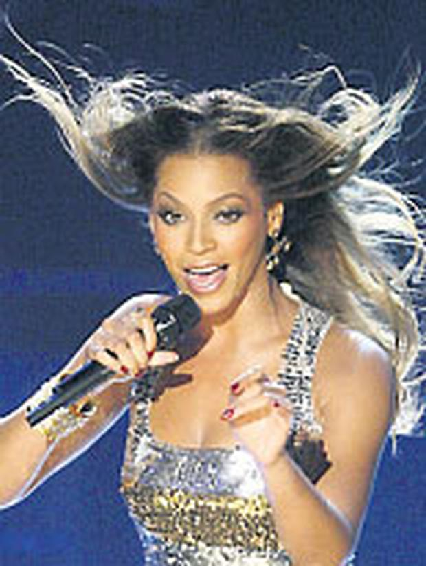 Beyonce on-stage at The Point