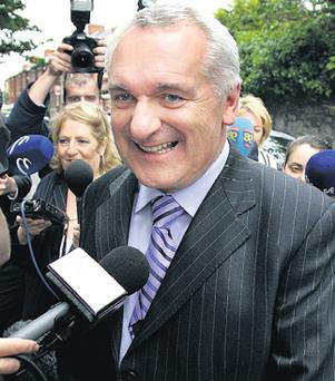 A smiling Bertie Ahern in 2007