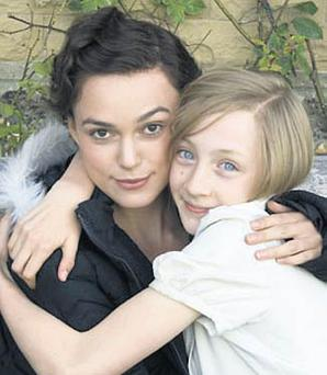 STARLET: Saoirse acts with Keira Knightley in 'Atonement'