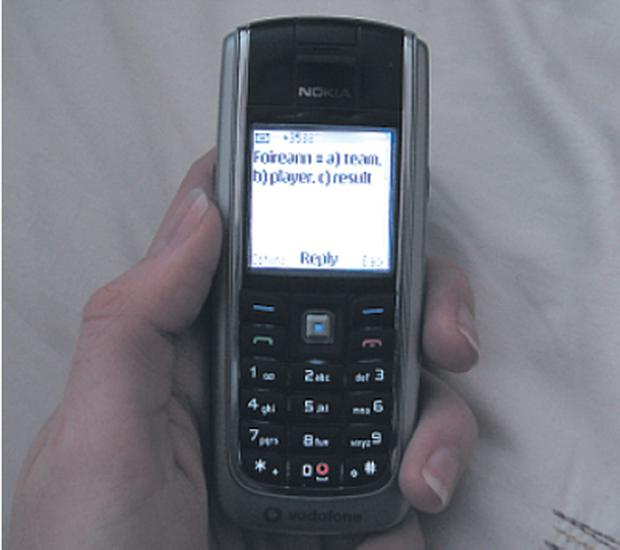 Students are provided with mobile phones for the project.