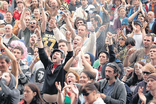 Fans enjoying the Electric Picnic music festival in Co Laois.