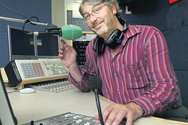 Larking about: a 4.30am start is usual for 2FM presenter Colm Hayes.