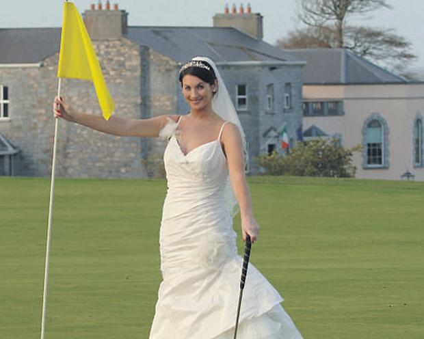 Former Miss Ireland Lynda Duffy at Glenlo Abbey Hotel, Galway. A change in the law means stress-free civil weddings can now take place at golf clubs, hotels and other locations.