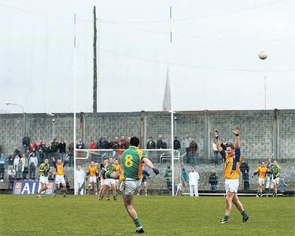 Bryan Sheehan of South Kerry watches his last minute free kick sail wide of the posts
