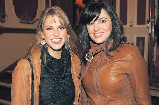 Actress Amy Huberman and TV presenter Grainne Seoige arrived for 'The Last Days of the Celtic Tiger'
