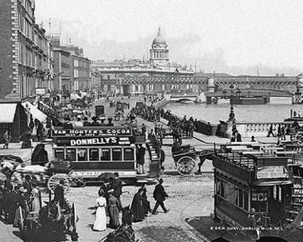 Eden Quay bustles at the turn of the century while poverty grips the slums of Faithful Street