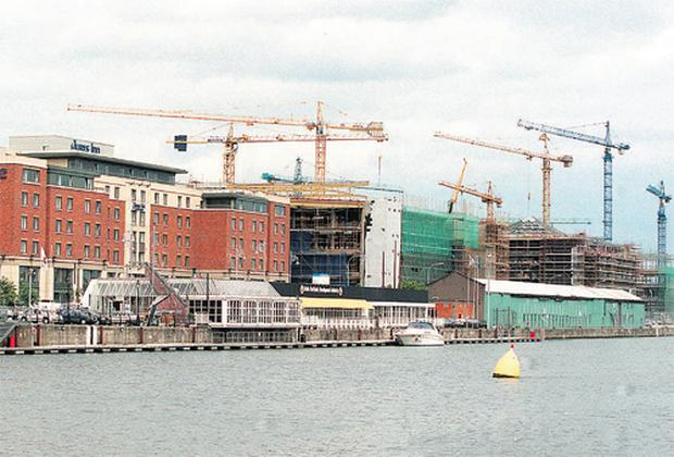 Cranes have dominated the Dublin skyline during the construction boom years, but many are now redundant as builders pull in their horns in the face of a rapidly deteriorating market for property