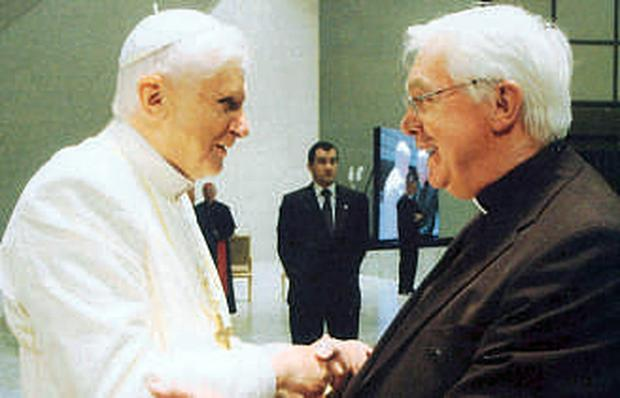 Fr Vincent Twomey with Pope Benedict