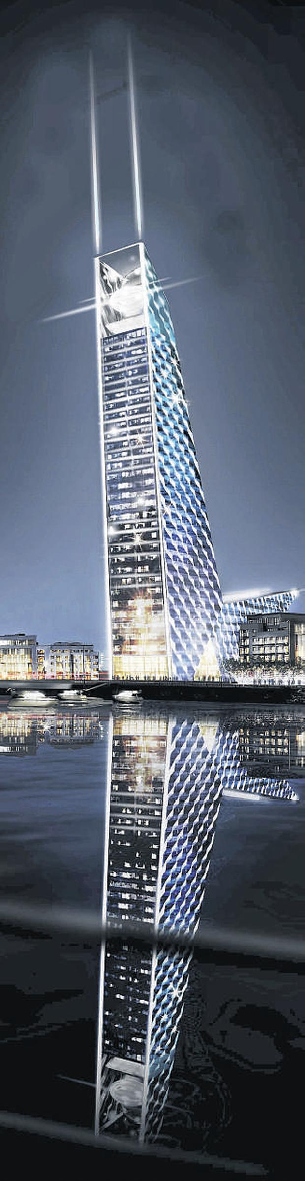 The U2 tower is one of a number of high rise buildings in the pipeline for Dublin