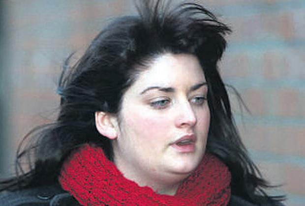 Gina Eccles outside the inquest into the death of her son Harry, three days after being born in a birthing pool