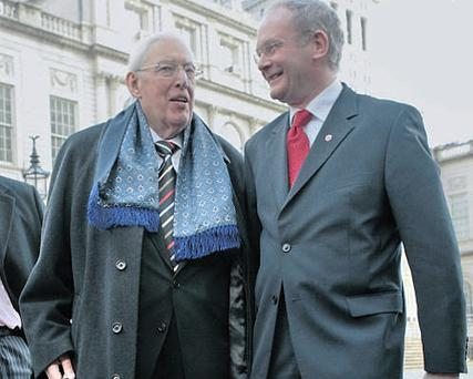 The political deal between the DUP's Ian Paisley and Martin McGuinness, above, is