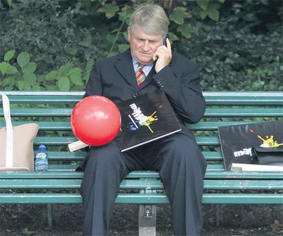 DENIS O'BRIEN: One of his army of spinners must have told him of the benefits of soccer patronage