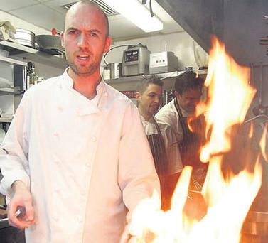 Mystery dish: Dylan McGrath at work in Mint in Ranelagh