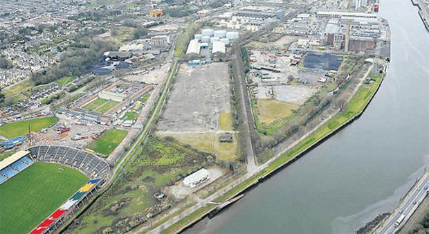 An aerial view of the proposed Atlantic Quarter with Pairc Ui Chaoimh in the foreground