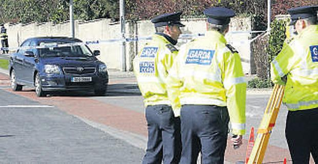 INVESTIGATION: Gardai at scene of the crash in Finglas