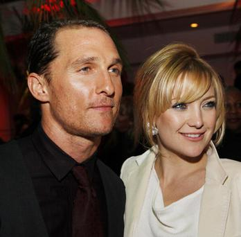 Matthew McConaughey and Kate Hudson pose at the afterparty for the premiere of Warner Bros. Pictures 'Fool's Gold'