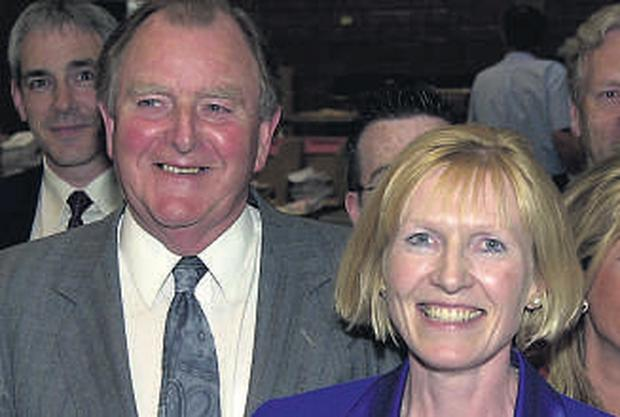 DANGER FOR FORMER RUC CHIEF: Sylvia Hermon and her husband Sir John after she won her North Down seat