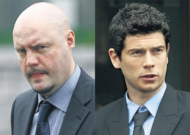 Jim Clarke, left, who had part of his left ear lobe bitten off outside Phibsborough House, Dublin on June 6, 2006. Right, Jonathan Martin who made admissions through his counsel that he assaulted MrClarke.