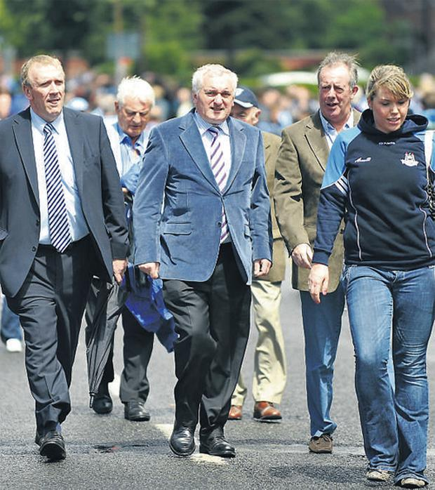 He is just an ordinary man of the people now, and yesterday former Taoiseach Bertie Ahern joined thousands of Dublin and Westmeath fans as they trudged up Jones Road to Croke Park for the Leinster semi-final