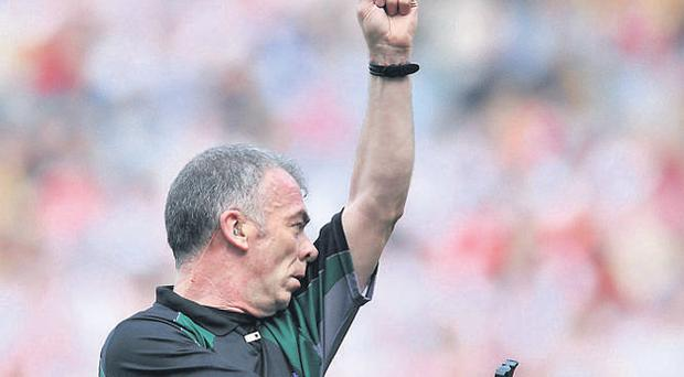 Referees such as Monaghan's Pat McEnaney will have greater powers to discipline players if new proposals are accepted