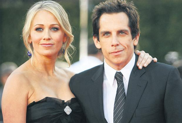 Double act: Ben Stiller with his wife, Christine Taylor, who appears alongside him in Stiller's latest venture, 'Tropic Thunder'