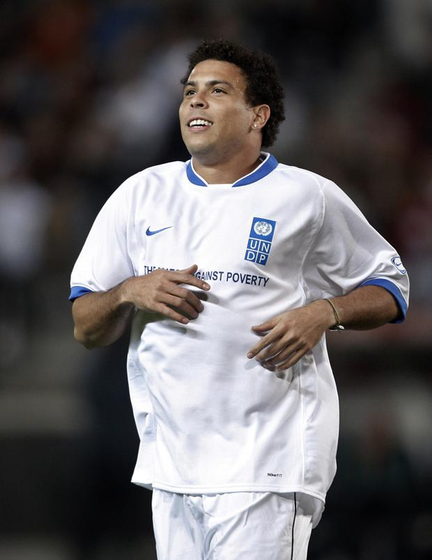 f9418c54687 Ronaldo pictured during the fifth Match against Poverty at the La Rosaleda  Stadium in Malaga last