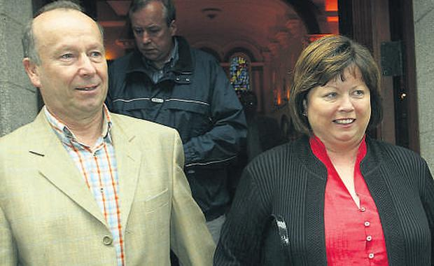 Former FAS chairman Brian Geoghegan, pictured with his wife, Health Minister Mary Harney, is one of several witnesses called to appear before the Public Accounts Committee next week