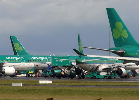 Aer lingus will resume twice-daily flights to and from Shannon in March 2009. Sean Dwyer/Bloomberg