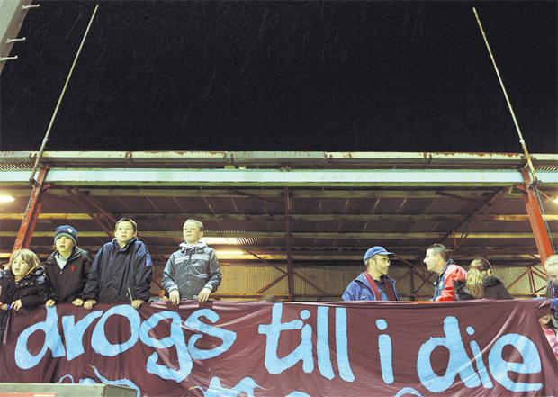 Drogheda United fans have been battling bravely to save their club. But one of the league's brightest stars Keith Fahey, below right, has been lost to the English Championship