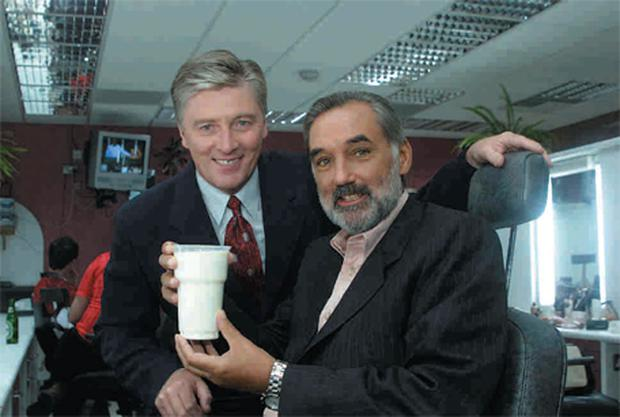 Pat is now reaching the ten-year milestone of presenting the show — with George Best before the latter appeared on the 'Late Late Show' in 2000