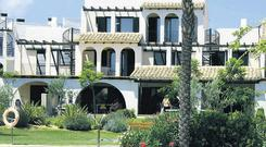 The three-bedroom house at Les Oliveres was set in landscaped gardens