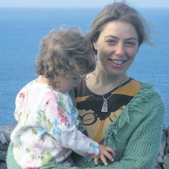SUNNY OUTLOOK: Kathy Evans returned to Australia because the Irish climate was harming her daughter's health