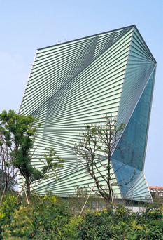 CSET, Centre for Sustainable Energy Technologies, Ningbo, China by Mario Cucinella Architects. The building won the Green Buildings award at the MIPIM Awards 2009, which took place in Cannes, France recently