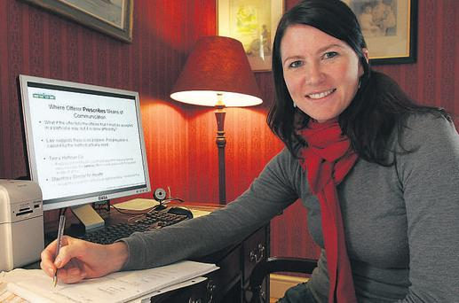 Dedicated student: Rebecca Keating, who is doing a law degree online. Picture by Jean Curran