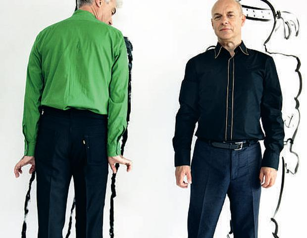 Enduring partnership: David Byrne (left) and Brian Eno have worked together since the late '70s