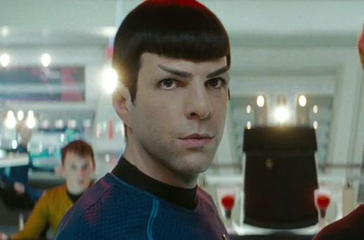 Zachary Quinto as Spock in the new Star Trek film