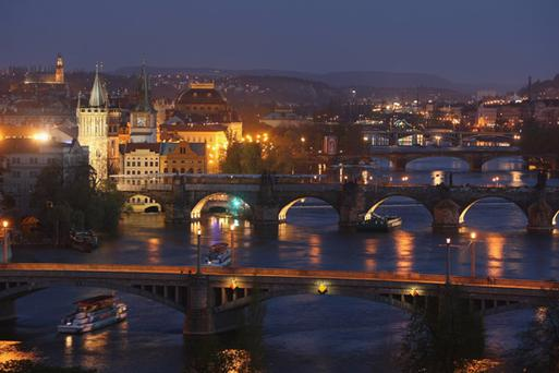 Stunning Prague by night. Photo: Getty Images